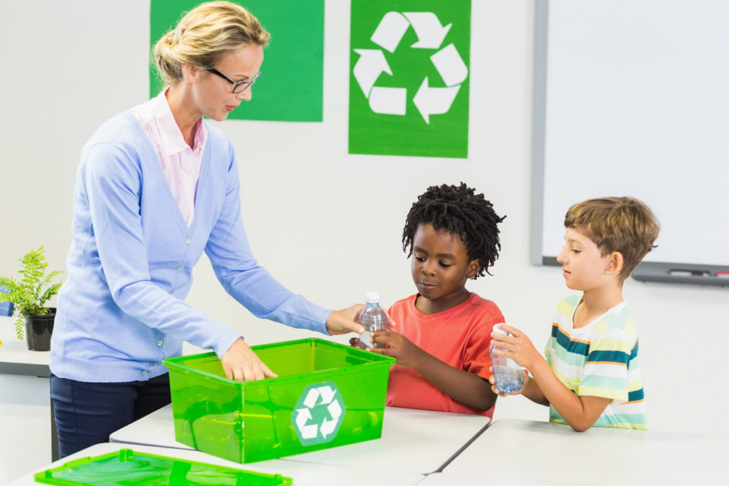 Green Recycling, Classroom recycling, Cris Johnson, recycling school assembly, green school assembly