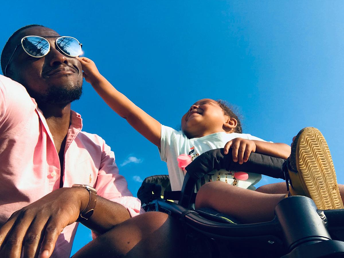 Cris Johnson, challenge of single fatherhood, fatherhood